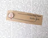 Glasgow, Scotland map bookmark: paper clip style page marker made with an original map. Gift idea for new home, student, boyfriend.