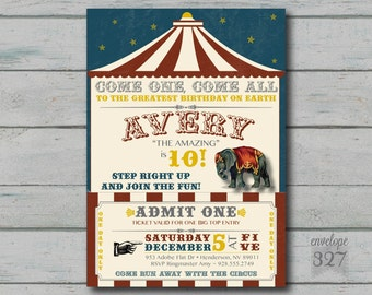 Circus Birthday Invitation