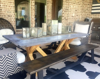 Concrete Top Dining Room Table