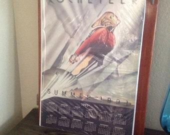 Vintage original 1991 Rocketeer calendar poster