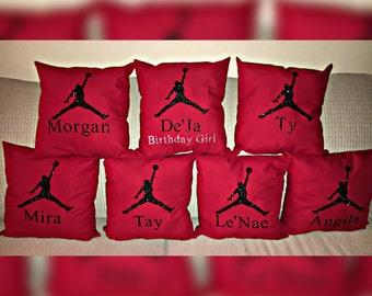 Jordan pillow party favor by Motif Creations!