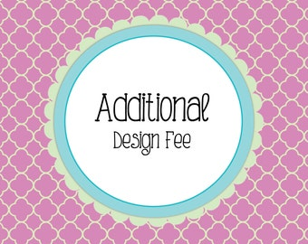 Additional Design Fee - To be used for Custom Wedding Programs or as otherwise instructed by the Shop owner