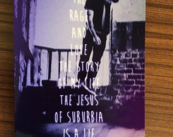 The Jesus Of Suburbia Is A Lie (Green Day) A4 Poster