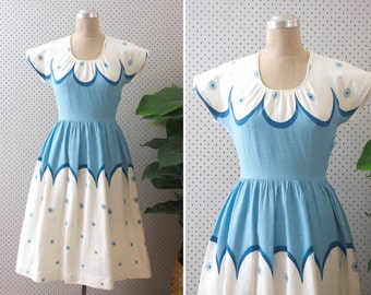 capricieux dress //  vintage 1950s cotton dress
