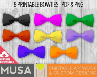Instant Download / Printable Bow Ties / Party Favors / Photo booth props / Digital elements