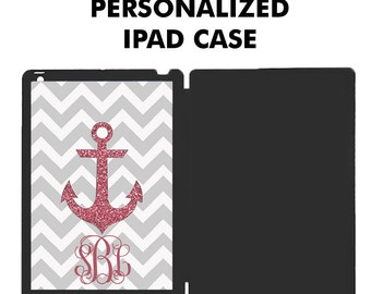 Personalized iPad Case, iPad Air Case, iPad Mini Case, Monogram iPad Case, iPad Mini Case, iPad Cover, Tablet Case - NOT REAL GLITTER