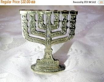 SALE Vintage jewish menorah,temple house,Judaica