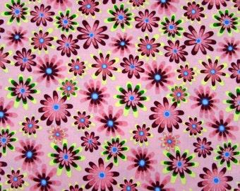 Flower Power Pink Fabric