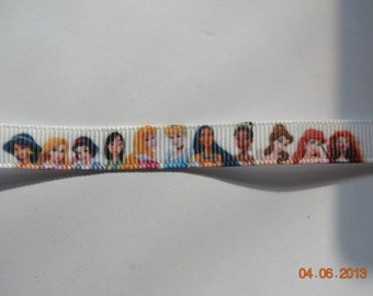 "Multi Princess ribbon, 3/8"" (10mm) wide, grosgrain, crafting, hair accessory, hair bows, sewing"