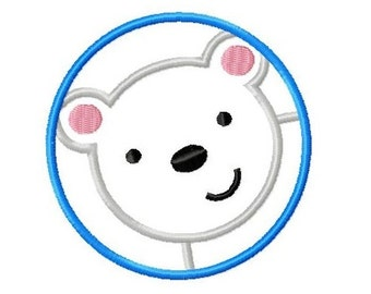 Embroidery Design Polarbear 4'x4' - DIGITAL DOWNLOAD PRODUCT