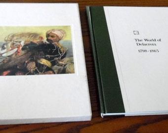 1966 art history, World of Delacroix, 1798-1863. By Tom Predeaux. Hardback in cardboard sleeve. 196 page