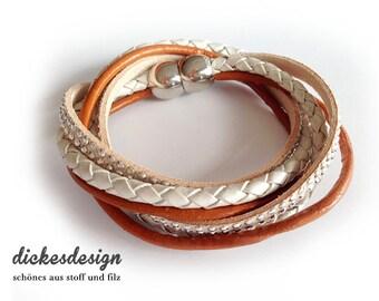 Wrap bracelet «Orange variation».