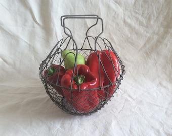 Vintage French ancien métal salad fruit ou œuf / home décor  / kitchenvare