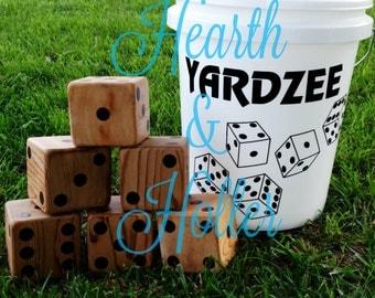 Yardzee, Cedar Wood, Lawn Games, Yard Yahtzee, Yard Dice, Giant Yahtzee