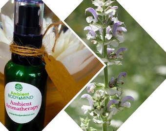 30ml Aromatherapy menopause spray for with clary sage, geranium, ylang ylang (2%) - Dispatched from UK supplier
