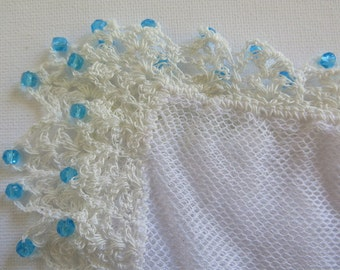 Vintage Beaded Netting Food Cover