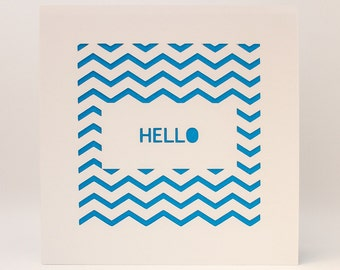 Paper cut 'Hello' Card