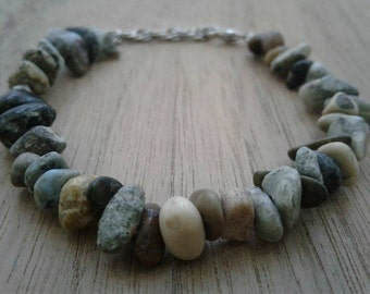 Multicolored Jasper beaded bracelet