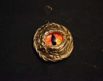 Dragon Eye Pendant - Red Eyes Small