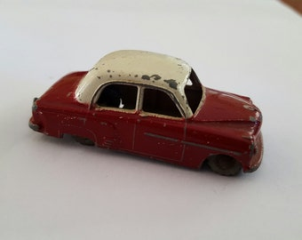 Vintage Vauxhall Cresta 22a Lesney, red and white chippy paint 1956 S1