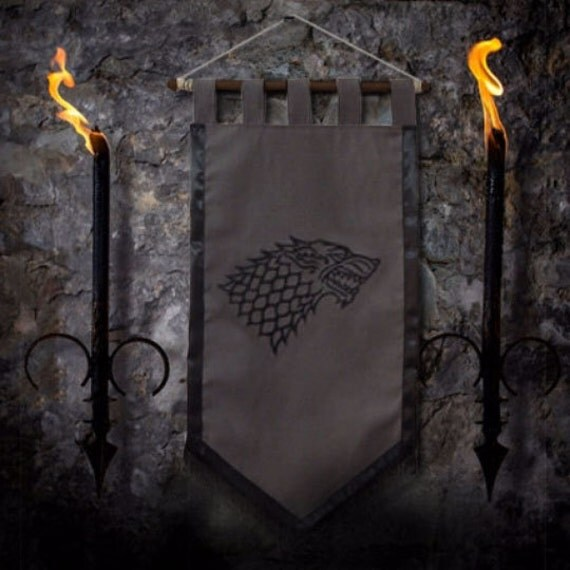 Game Of Thrones Flag Curtain House STARK Home Decor By Oki007