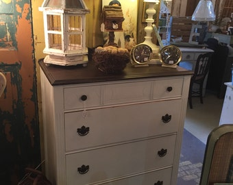 Stained Top Dresser