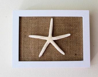 Nautical Wall Decor - Framed Starfish