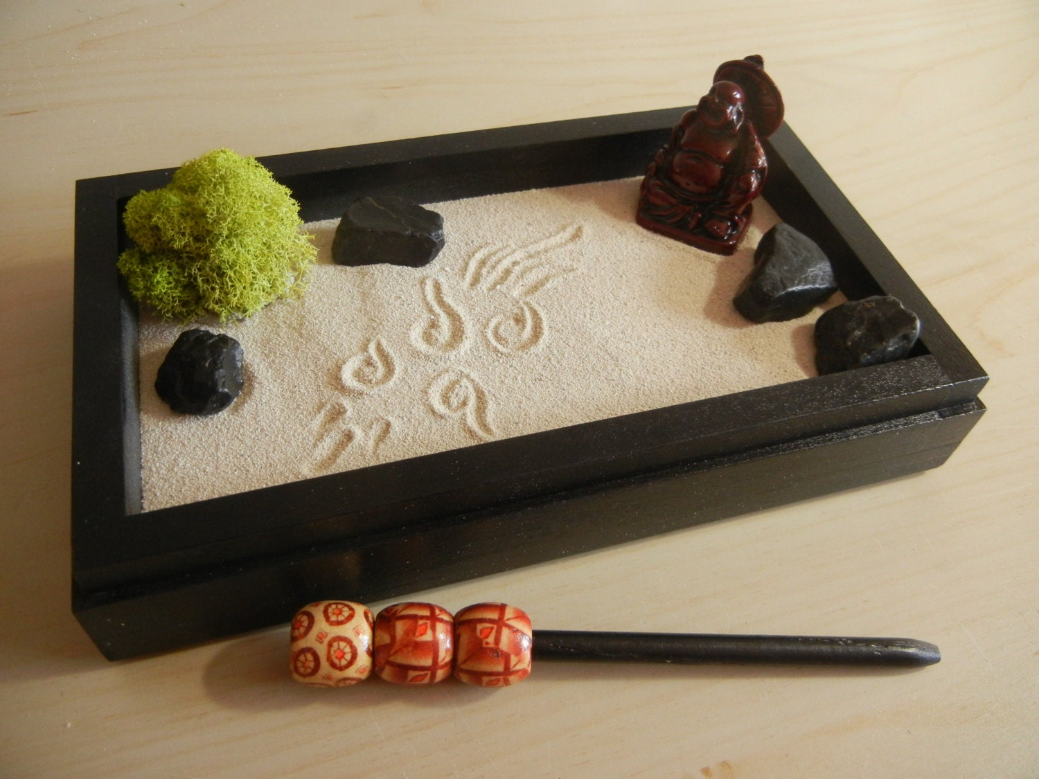 mini03 mini zen garden with buddha diy kit. Black Bedroom Furniture Sets. Home Design Ideas