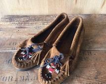 Minnetonka Beaded Mocassins, Ladies Size 7.5