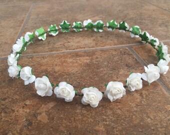 White Flower Crown (toddler size)
