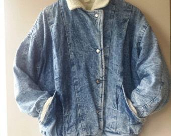 Vintage Acidwash Denim and Sherp jacket