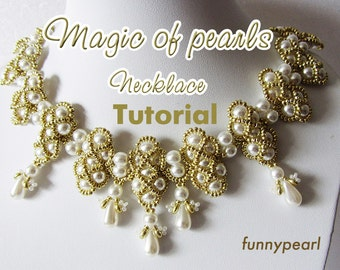 Necklace Magic of pearls. Tutorial PDF