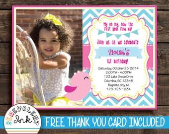 Bird First Birthday Invitation - Bird 1st Birthday Party Invite Printable