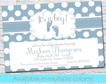 Baby Shower Invite - Polka Dots - Available in multiple colors!