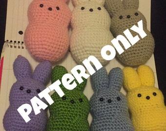 PATTERN ONLY!!! Peeps Crocheted Pattern