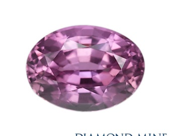 A Beautiful NaturalSapphire 1.25 Pink Oval Extra