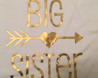 Big Sister Iron on Transfer t shirt not included