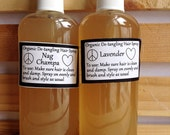 Organic Hair Detangler and Leave-In Conditioner All Natural, You Choose Scent, 4oz