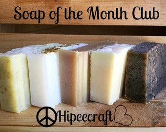 Soap of the Month Club 3 Month Subscription Natural Bar Soap Organic Bar Soap Organic Hemp Soap Gifts for Her Mothers Day Gift