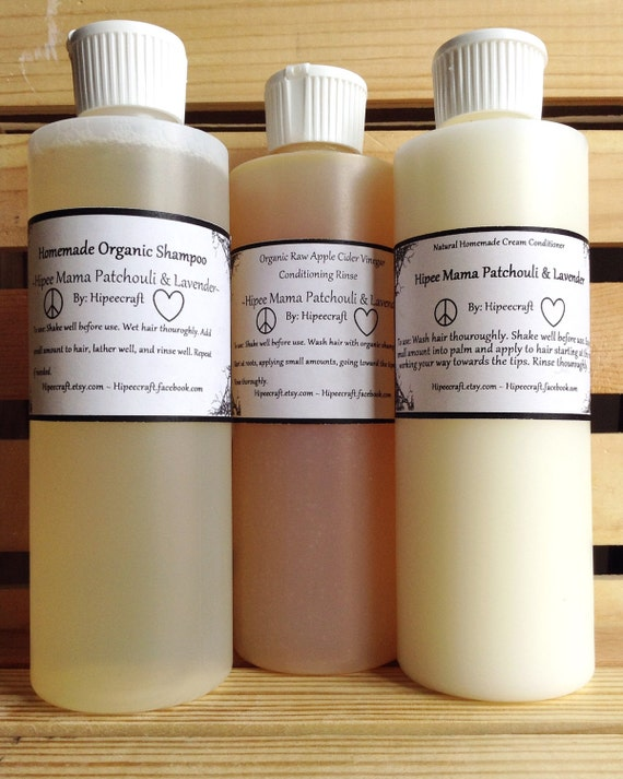 Patchouli shampoo and conditioner