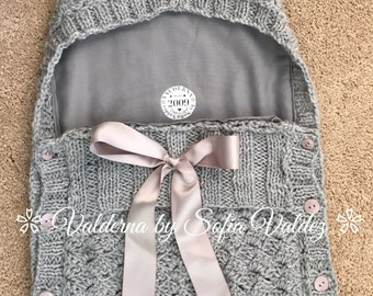 Baby Cocoon Gray* Knit * Crochet (NEWBORN)