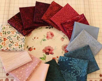 5 Yard Custom Bundle of Rosewater by Galaxy of Graphics for Quilting Treasures and others
