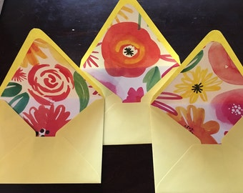 Personalized SPRING BLOSSOM Stationary Set: 10 Cards and Envelopes