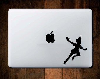 Peter Pan Decal, Neverland, Macbook Decal, Laptop Decal, Neverland Decal, Sticker