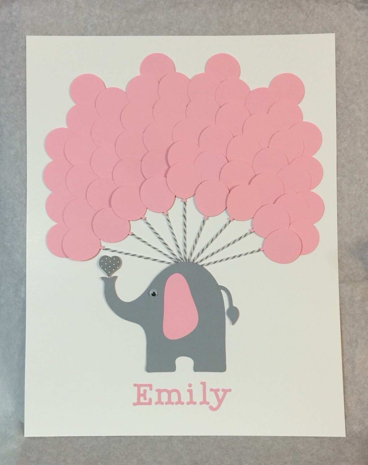 pink elephant baby shower sign in book baby shower guest