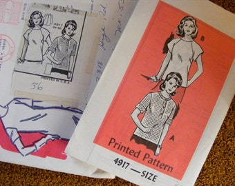 "Vintage Misses' Mail Order Sewing Pattern Misses' Blouse / Top / Shirt 36"" Bust Anne Adams 4917 36 Bust"