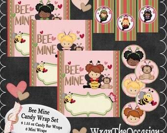 Bee Mine Candy Wrap Set
