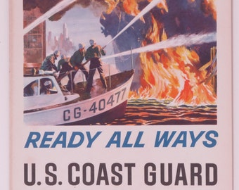 "Original Vintage ""Action Today""  U.S. Coast Guard Reserve Poster"