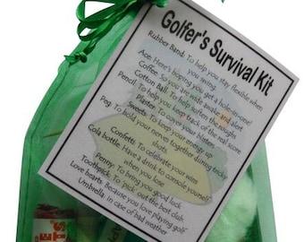 Golfer's Survival Kit Gift - Small Novelty gift - Free UK Shipping