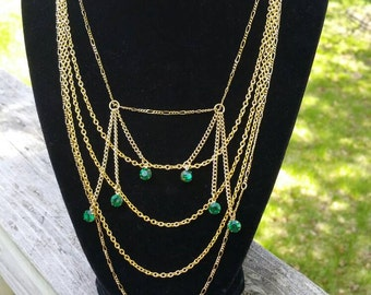 Elegant Multistrand Gold Necklace